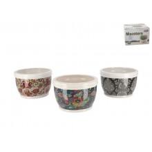 Vazonas keramik. 18*12cm decor