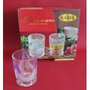 Stiklinės 200ml 6vnt. dekoruotos dėžutėje Y02A