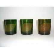 Žvakidė stikl. 8*7 cm 5898