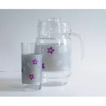 Ąsotis su 6 stiklinėmis  1010 (AU,SI)
