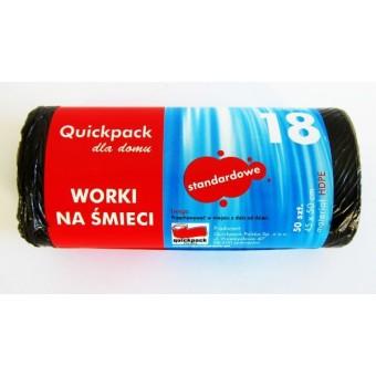 Šiukšlių maišai 18L 50vnt.  juod. QDDWHD018