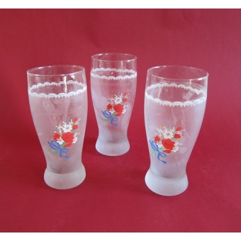 Stiklinės 300ml 6vnt. dekoruotos 1712