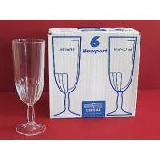 Taurės šampanui  6vnt.Newport 160ml