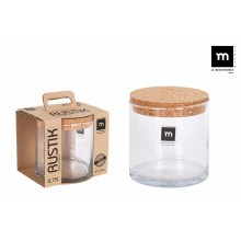 Indas stikl. s/d kork 0.75L11*12cm RUSTIK ECO75005