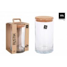 Indas stikl. s/d kork 1.5L 11*21cm RUSTIK ECO75007