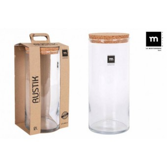 Indas stikl. s/d kork 2L 11*26cm RUSTIK ECO75008