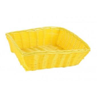 Krepšelis pintas geltonas 24*24*7cm B922050