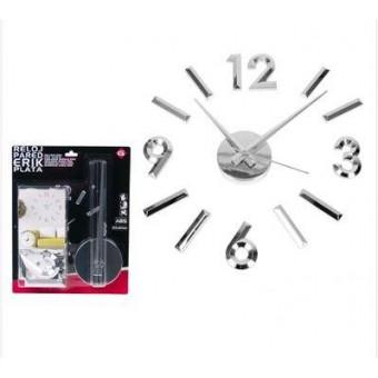 Laikrodis sieninis 60*60cm ERIK sidabro sp.