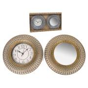 Laikrodis + veidrodis sieninis 31cm SOREM