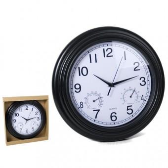 Laikrodis plast. sieninis 33cm BRISTOL