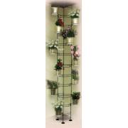 Stovas gėlėms 10-0482-1 250*30 cm iki lubų baltas