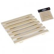 Padėkliukas bambukinis 17*17cm šviesus