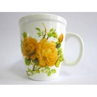 Puodukas 400ml gėlės