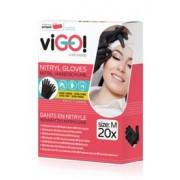 Pirštinės nitrilo 20vnt M vienkart. juodos VIGO
