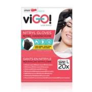 Pirštinės nitrilo 20vnt L vienkart. juodos VIGO