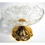 Saldaininė stikl su kojele 20cm B120AU