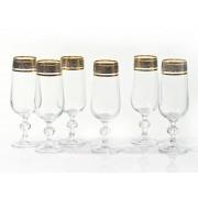 Taurės šampanui su dek.180ml Claudia 6 vnt. 43249