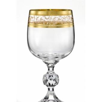 Taurės vynui su dek.230ml Claudia 6 vnt. 43081