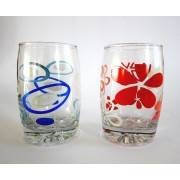 Stiklinė 250ml dekoruota  MIX 1155