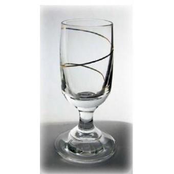 Stikliukai 6vnt. su kojele auksin. spiral 20 ml