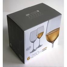 Taurės vynui 250ml 6vnt. Bohemia