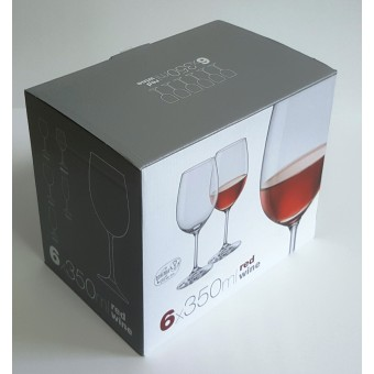 Taurės vynui 350ml 6vnt. Bohemia