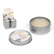 Žvakė met. indelyje 6*6*3cm 40gr aroma Vanilla