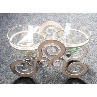 Žvakidė stikl. 10-1448B 12.5*21cm 2vnt