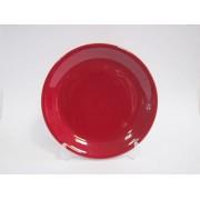 Lėkštė keramik. 20.5cm raudona 2227