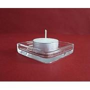 Žvakidė stikl.  7*7cm 10259