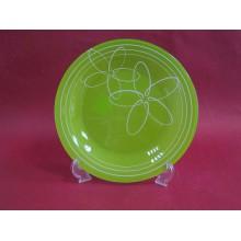 Lėkštė stikl. 27cm TOTEM 7489 (žalia) 1vnt.