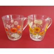 Puodukas stikl. 350ml BH604 F-D MIX (gėlės)