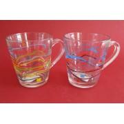 Puodukas stikl. 350ml BH604 A-B MIX (juostelės)