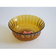 Salotinė stiklinė 11cm 0414 AM rudos spalvos