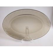 Lėkštė 31cm ovali stikl. FUME NS-38-545