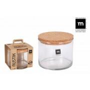 Indas stikl. s/d kork 1.4L 15*12cm RUSTIK ECO75001