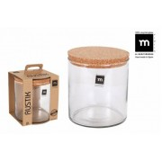 Indas stikl. s/d kork 2L 15*15cm RUSTIK ECO75002