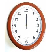 Laikrodis sieninis 40*31cm plast. oval NGV0497