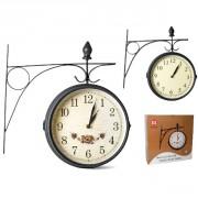 Laikrodis met. 20cm su laikikliu