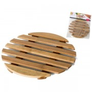 Padėkliukas bambukinis 18cm rudas