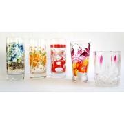 Stiklinė 250ml dekoruota  MIX