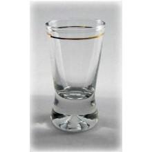 Stikliukai 6vnt. X Orka su auksin. krašt. 25 ml