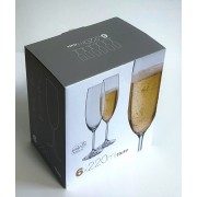 Taurės šampanui 220ml  6vnt Bohemia