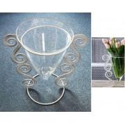 Vaza stikl. 10-21202B 33*22cm
