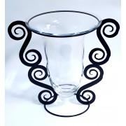 Vaza stikl. 10-21356J 33*22cm