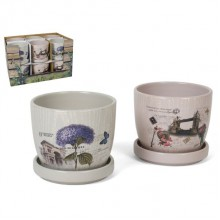 Vazonas keramik. s/l 12x12x10cm